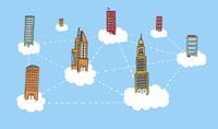 Building sky network on the clouds 60016001892| 写真素材・ストックフォト・画像・イラスト素材|アマナイメージズ