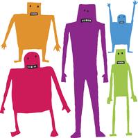 Funny cartoon characters 60016001901| 写真素材・ストックフォト・画像・イラスト素材|アマナイメージズ