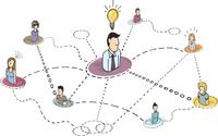 Creative thinking teamwork / Idea process or brainstorming