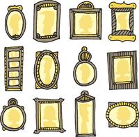 Retro cartoon picture frames 60016001920| 写真素材・ストックフォト・画像・イラスト素材|アマナイメージズ