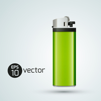 Realistic gas lighter. Design template. Vector Illustration, eps 10, contains transparencies.