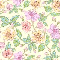 Seamless floral pattern 60016002209| 写真素材・ストックフォト・画像・イラスト素材|アマナイメージズ