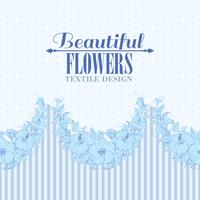 Blue flower seamless pattern. Vector illustration. 60016002215| 写真素材・ストックフォト・画像・イラスト素材|アマナイメージズ
