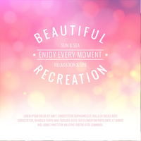 Spa lettering over pink bokeh background. Vector illustration. 60016002291| 写真素材・ストックフォト・画像・イラスト素材|アマナイメージズ