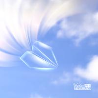 Paper airplane origami. Vector illustration 60016002392| 写真素材・ストックフォト・画像・イラスト素材|アマナイメージズ