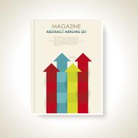 Modern brochure design with color arrows set