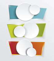 Vector modern banners or frames element design. Plastic web plates. Modern background 60016002578| 写真素材・ストックフォト・画像・イラスト素材|アマナイメージズ