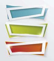 Vector modern banners or frames element design. Plastic web plates. Modern background.  60016002579| 写真素材・ストックフォト・画像・イラスト素材|アマナイメージズ