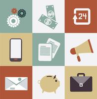 set of business icons illustration 60016002632| 写真素材・ストックフォト・画像・イラスト素材|アマナイメージズ
