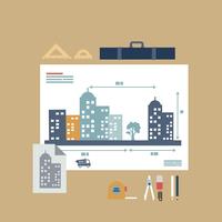 architect drawings  60016002647| 写真素材・ストックフォト・画像・イラスト素材|アマナイメージズ