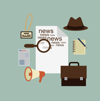journalist illustration. Flat modern style vector design
