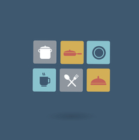 tableware icon. Flat modern style vector design