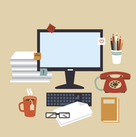 Secretary Desk illustration