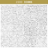 1500 icons for web design. A vector illustration 60016002763| 写真素材・ストックフォト・画像・イラスト素材|アマナイメージズ