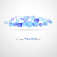 Vector illustration Speech bubble network background. EPS10 60016002775| 写真素材・ストックフォト・画像・イラスト素材|アマナイメージズ