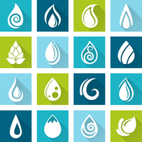 Set of water drops icons set for healthy medicine design vector illustration