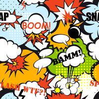 Seamless pop art pattern comic speech bubbles vector illustration 60016002958| 写真素材・ストックフォト・画像・イラスト素材|アマナイメージズ