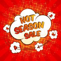 Hot season sale advertising promotion special offer speech bubble vector illustration 60016003061| 写真素材・ストックフォト・画像・イラスト素材|アマナイメージズ