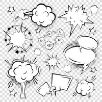 Comic outline blank text speech bubbles on squared background set vector illustration 60016003062| 写真素材・ストックフォト・画像・イラスト素材|アマナイメージズ