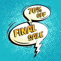 Final sale special shopping offer speech bubble vector illustration 60016003063| 写真素材・ストックフォト・画像・イラスト素材|アマナイメージズ