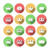 Imperial classical crowns flat solid icons set for  king queen prince jewelry elements composition isolated vector illustration 60016003163| 写真素材・ストックフォト・画像・イラスト素材|アマナイメージズ