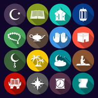 Islamic church muslim arabic spiritual traditional symbols flat icons set isolated vector illustration 60016003204| 写真素材・ストックフォト・画像・イラスト素材|アマナイメージズ
