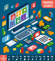 Isometric financial securities and business elements set vector illustration 60016003337| 写真素材・ストックフォト・画像・イラスト素材|アマナイメージズ