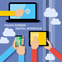 Human hands set holding touching mobile phones screens computer and communication gadgets vector illustration 60016003443| 写真素材・ストックフォト・画像・イラスト素材|アマナイメージズ