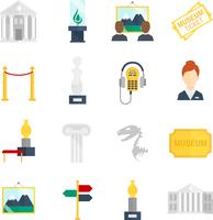 Museum art exhibition icons flat set isolated vector illustration 60016003496| 写真素材・ストックフォト・画像・イラスト素材|アマナイメージズ