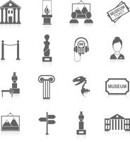 Museum building artistic exhibition icons black set isolated vector illustration 60016003497| 写真素材・ストックフォト・画像・イラスト素材|アマナイメージズ