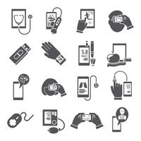 Mobile health pharmacy delivery computer diagnostics icons black set isolated vector illustration 60016003531| 写真素材・ストックフォト・画像・イラスト素材|アマナイメージズ