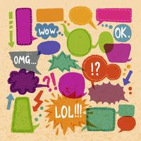 Comic blank text speech bubbles icons set on paper background vector illustration 60016003560| 写真素材・ストックフォト・画像・イラスト素材|アマナイメージズ