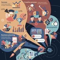 Creative infographic set with business planning development success elements vector illustration 60016003616| 写真素材・ストックフォト・画像・イラスト素材|アマナイメージズ
