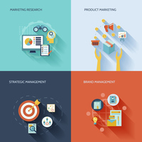 Marketer flat icons set with marketing research product strategic brand management isolated vector illustration 60016003835| 写真素材・ストックフォト・画像・イラスト素材|アマナイメージズ