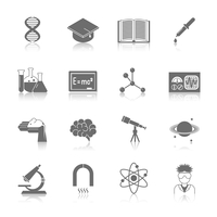 Science and research icon black set with dna graduation hat book isolated vector illustration 60016003841| 写真素材・ストックフォト・画像・イラスト素材|アマナイメージズ