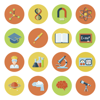 Science and research icon flat set with atom dna magnet molecule isolated vector illustration 60016003846| 写真素材・ストックフォト・画像・イラスト素材|アマナイメージズ