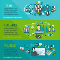 Meeting people horizontal banner set with team planning conference isolated vector illustration 60016003940| 写真素材・ストックフォト・画像・イラスト素材|アマナイメージズ