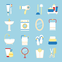 Bathroom icons colored set with toothpaste and brush hairdryer isolated vector illustration 60016003947| 写真素材・ストックフォト・画像・イラスト素材|アマナイメージズ