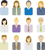 Business people icons 60016003955| 写真素材・ストックフォト・画像・イラスト素材|アマナイメージズ