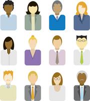 Business people icons (multi ethnic) 60016003956| 写真素材・ストックフォト・画像・イラスト素材|アマナイメージズ