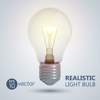 Creative template with light bulb. Vector Illustration, eps 10, contains transparencies.