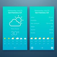 Flat UI design cincept. Vector Illustration, eps10, contains transparencies.