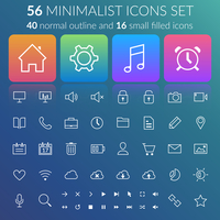 Line icons set. Design concept. Vector Illustration, eps10, contains transparencies.