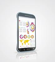 Infographics Desgin template with high tech smartphone 60016004083| 写真素材・ストックフォト・画像・イラスト素材|アマナイメージズ