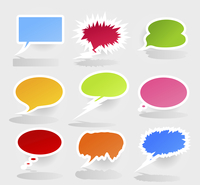 Conversation cloud2. Set of icons of clouds for conversation. A vector illustration 60016004113| 写真素材・ストックフォト・画像・イラスト素材|アマナイメージズ