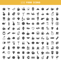 Collection of icons of food and ware. A vector illustration 60016004118| 写真素材・ストックフォト・画像・イラスト素材|アマナイメージズ