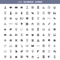 Collection of icons a science. A vector illustration