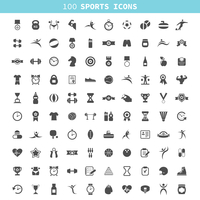 Collection of icons sports. A vector illustration