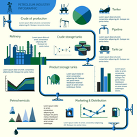 World oil production distribution and petroleum extraction rate infographics diagram layout report presentation design vector il