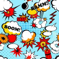 Seamless pop art background with comic speech bubbles vector illustration 60016004182| 写真素材・ストックフォト・画像・イラスト素材|アマナイメージズ